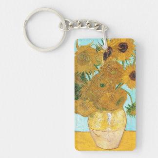 Still Life - Vase with Twelve Sunflowers van Gogh Double-Sided Rectangular Acrylic Keychain