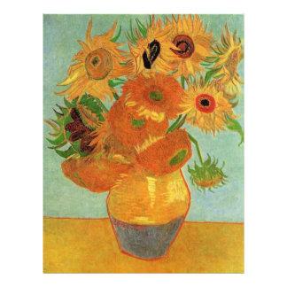 still life - vase with twelve sunflowers, van Gogh Custom Flyer