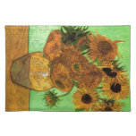 Still Life Vase with Twelve Sunflowers - Van Gogh Place Mats