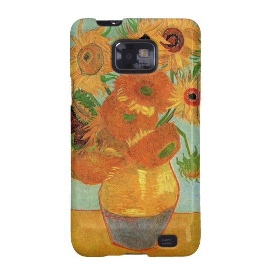 still life vase with twelve sunflowers, van Gogh Samsung Galaxy S2 Case