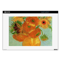 still life - vase with twelve sunflowers, van Gogh Laptop Decal