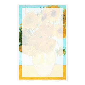 Still Life - Vase with Twelve Sunflowers van Gogh Stationery