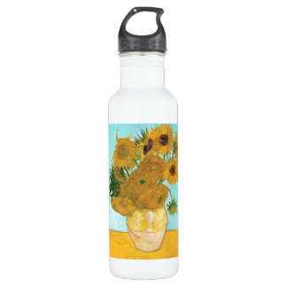 Still Life - Vase with Twelve Sunflowers van Gogh Water Bottle