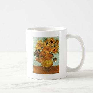 Still life - Vase with twelve Sunflowers, Vincent Coffee Mugs