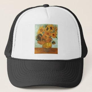 Still life - Vase with twelve Sunflowers, Vincent Trucker Hat