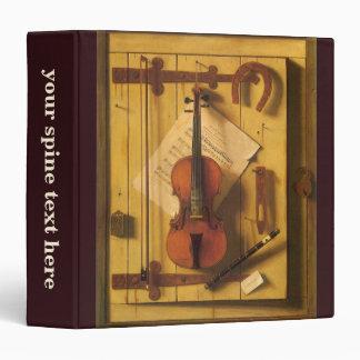 Still Life Violin and Music by Harnett Binder