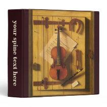 Still Life Violin and Music by William Harnett Binder