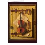 Still Life Violin and Music by William Harnett Card