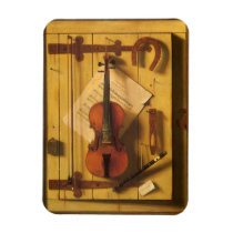 Still Life Violin and Music by William Harnett Magnet