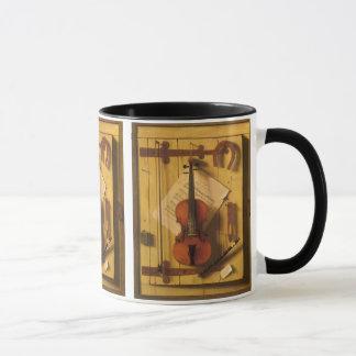 Still Life Violin and Music by William Harnett Mug