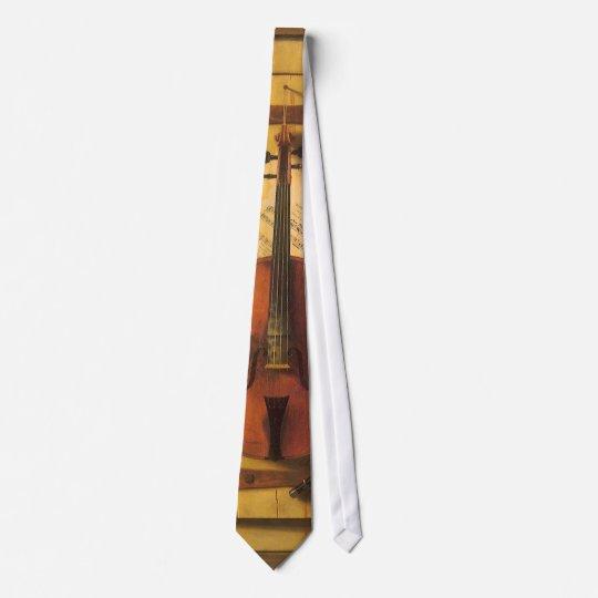 Still Life Violin and Music by William Harnett Neck Tie