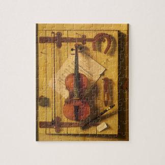 Still Life Violin Music Harnett, Vintage Victorian Puzzle