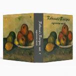 Still Life w Apples by Cezanne, Impressionism Art Binder