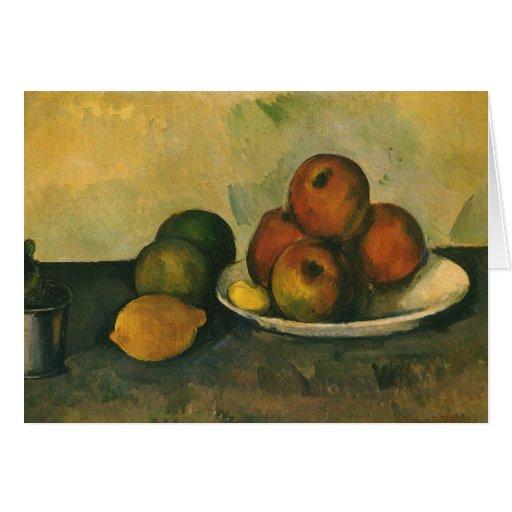Still Life w Apples by Cezanne, Impressionism Art Greeting Card
