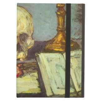 Still Life w Skull, Candle, Book By Paul Cezanne Cover For iPad Air