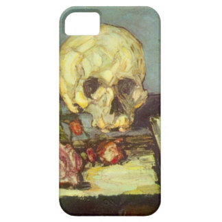 Still Life w Skull, Candle, Book By Paul Cezanne iPhone SE/5/5s Case