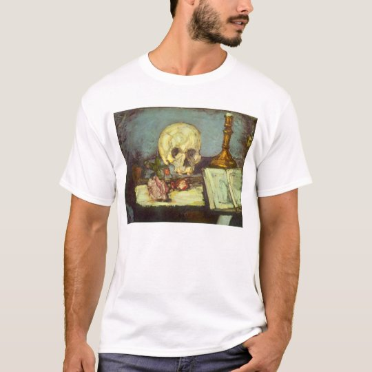 Still Life w Skull, Candle, Book By Paul Cezanne T-Shirt