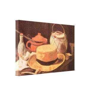 Still Life w Yellow Straw Hat by Vincent van Gogh Canvas Print