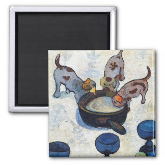 Still Life with 3 Puppies by Paul Gauguin Magnet
