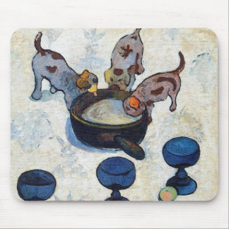 Still Life with 3 Puppies by Paul Gauguin Mouse Pad