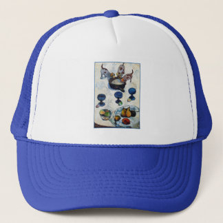 Still Life with 3 Puppies by Paul Gauguin Trucker Hat