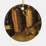 Still Life with 4 Stone Bottles; Vincent van Gogh Christmas Ornament