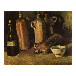 Still Life with 4 Stone Bottles; Vincent van Gogh Posters