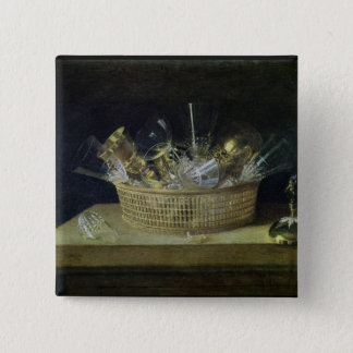 Still Life with a Basket of Glasses, 1644 Pinback Button