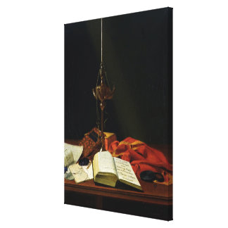 Still life with a Bible, 1821 Canvas Print