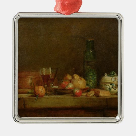 Still Life with a Bottle of Olives, 1760 Metal Ornament