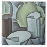 Still Life with a Bottle of Wine and an Earthenwar Ceramic Tile