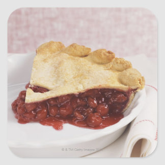 Still Life With a Cherry Pie Square Stickers