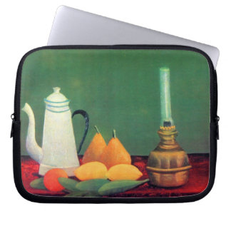 Still life with a coffee pot by Theodore Rousseau Computer Sleeve