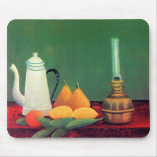 Still life with a coffee pot by Theodore Rousseau Mouse Pad