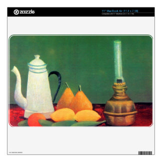 """Still life with a coffee pot by Theodore Rousseau Skins For 11"""" MacBook Air"""