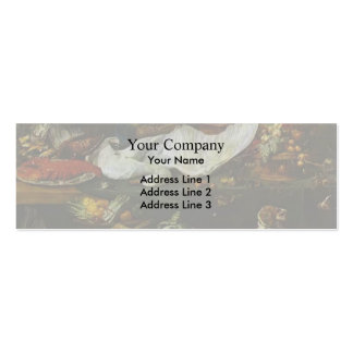 Still-Life with a Dog and Puppies by Frans Snyders Business Card