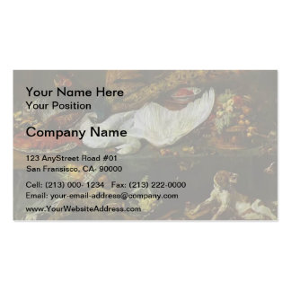 Still-Life with a Dog and Puppies by Frans Snyders Business Card Template