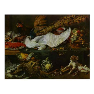 Still-Life with a Dog and Puppies by Frans Snyders Postcard