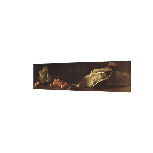 Still Life with a Duck, 1863 Canvas Print