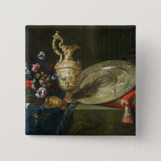 Still Life with a Gilded Ewer Button
