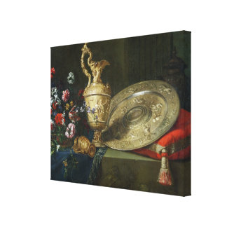 Still Life with a Gilded Ewer Canvas Print