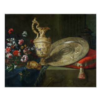Still Life with a Gilded Ewer Poster