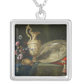 Still Life with a Gilded Ewer Silver Plated Necklace