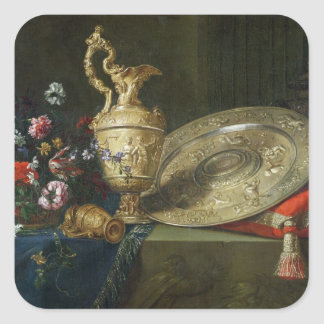 Still Life with a Gilded Ewer Square Sticker