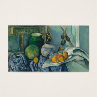Still Life with a Ginger Jar and Eggplants Cézanne Business Card