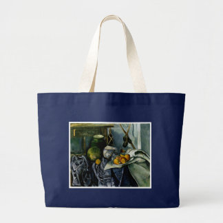 Still Life with a Ginger Jar and Eggplants Large Tote Bag