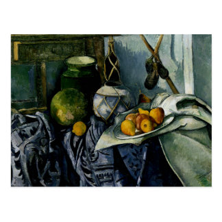 Still Life with a Ginger Jar and Eggplants Postcard