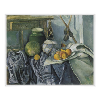 Still LIfe with a Ginger Jar & Eggplants 1893-94 Poster