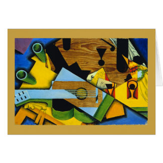 Still Life with a Guitar by Juan Gris Card