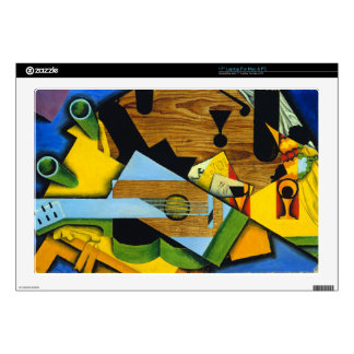 Still Life with a Guitar by Juan Gris Decals For Laptops